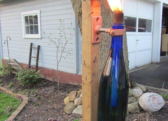 Get Lit:  DIY Wine Bottle Torch   J. Paris Designs  | Apartment Therapy
