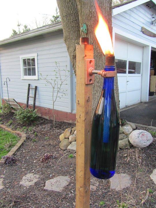 Get Lit:  DIY Wine Bottle Torch   J. Paris Designs  | Apartment Therapy