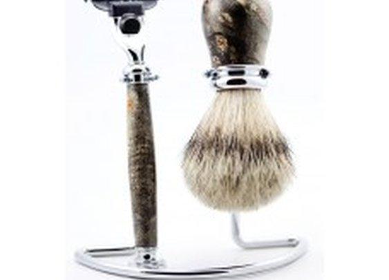 Buckeye Burl Wood Shaving Set