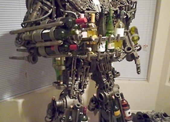 Half Ton Transformer-style Wine Rack made of auto... | ImBloggingMe