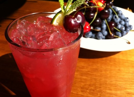 Cherry Mojito  + Recipes + Chef Magaña