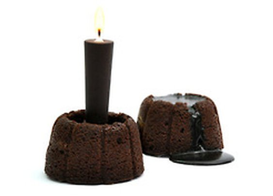 Molten chocolate candle