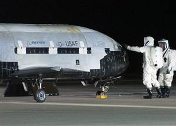 Secret X-37B craft lands after 15-month mission