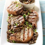Pork Chops with Marsala and Porcini Mushroom Sauce