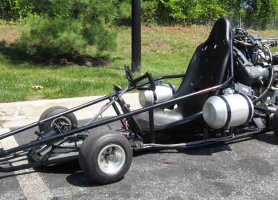 jet-powered go-kart