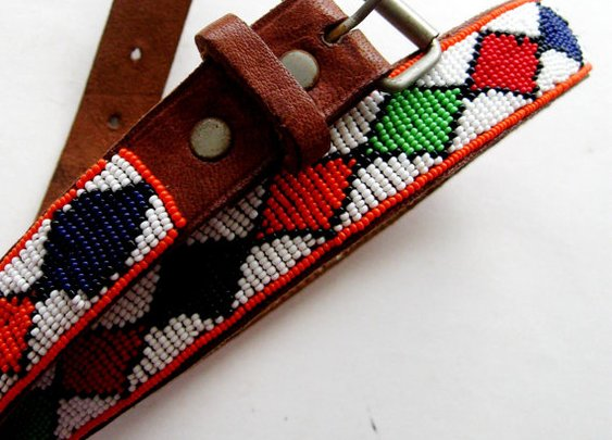 Vintage Native American Beaded Belt