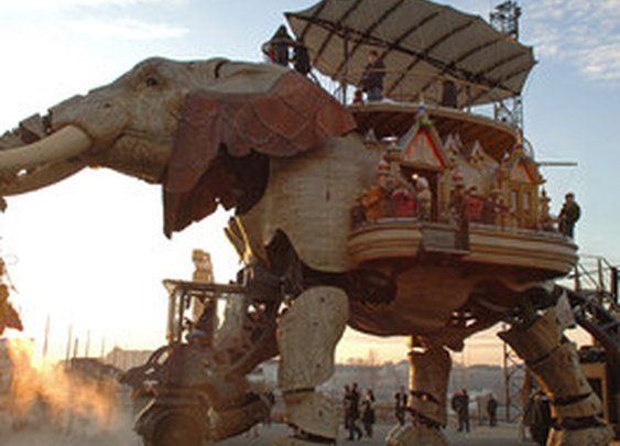 A 49-Passenger Mechanical Elephant