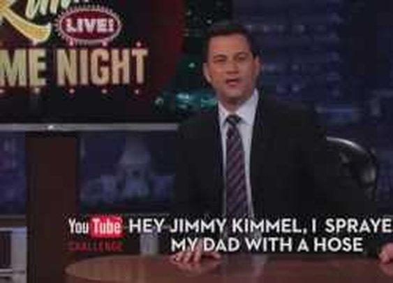 Hey Jimmy Kimmel, I Sprayed My Dad With a Hose