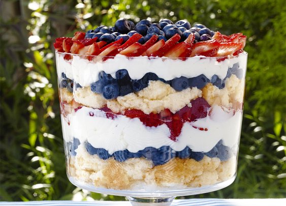 Patriotic Berry Trifle Recipe : Sunny Anderson : Recipes : Food Network