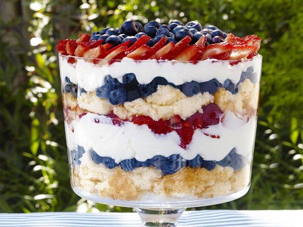 Patriotic Berry Trifle Recipe : Sunny Anderson : Recipes : Food Network