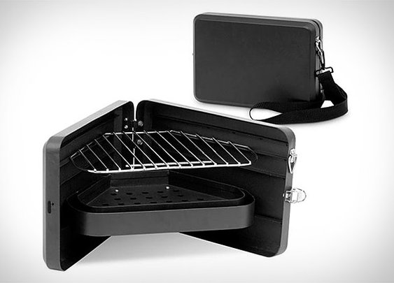 Darwin Briefcase BBQ   Uncrate