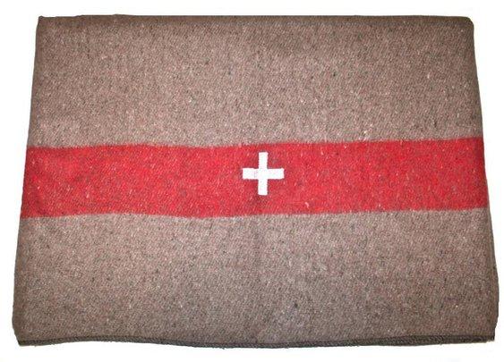 Petaluma Supply Co. - 1940's NOS Vintage Swiss Army Wool Blanket