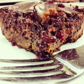 Random Food Photo - Dark Chocolate, Raspberry, and Jack Daniels Brownies