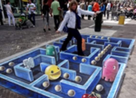 Talented sidewalk painter gives Pac-Man a new dimension | Games Blog - Yahoo! Games