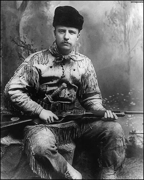 Theodore Roosevelt was the first and only President to kill a cougar with a knife.