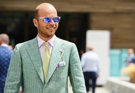 Pitti Uomo 82 Picture Gallery — Luca Rubinacci in Green Jacket