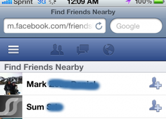 'Find Friends Nearby': Facebook's New Mobile Feature For Finding People Around You