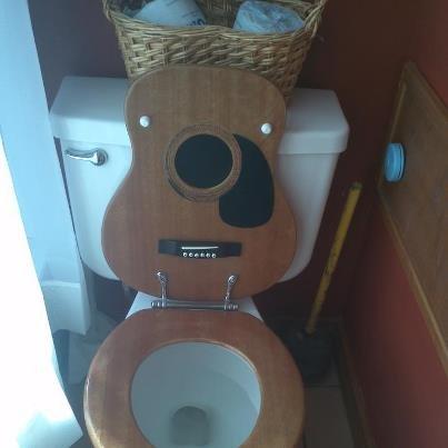 Guitar toilet seat!