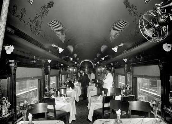 The Dining Car: 1902 | Shorpy Historical Photo Archive