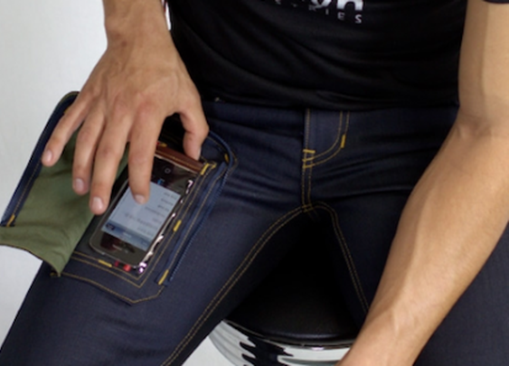 Wearcom jeans let you use your smartphone in your pocket