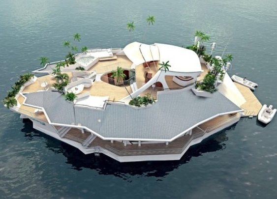 Own A Floating Island for $6.5 Million | LUXUO Luxury Blog