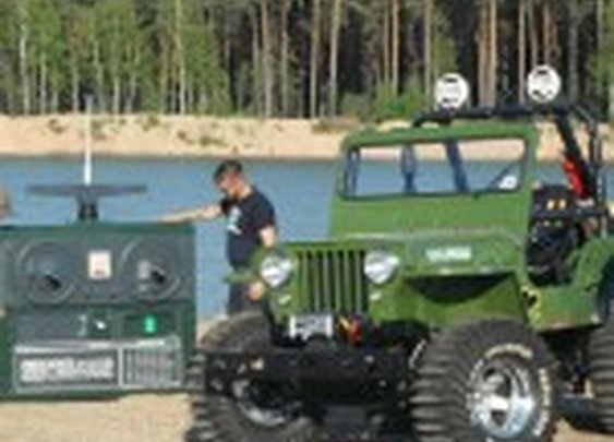 """Full Scale Replica of Tamiya """"Wild Willy"""" R/C Jeep"""