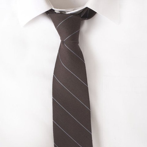 Wool Brown Stripe Tie