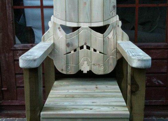 Custom Stormtrooper Head Lawn Chair