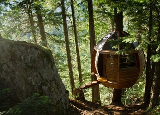 Make like a Treehouse and Leave: 6 Droolworthy Arboreal Abodes » Man Made DIY | Crafts for Men « Keywords: architecture, tree, outdoor, camping