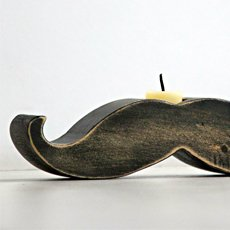 Mustache Candle Holder   Cool Material