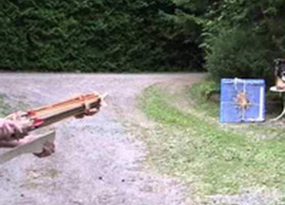 This Homemade Crossbow Revolver Spins and Shoots Arrows So Fast You Can't Even See It