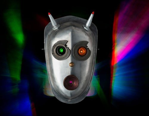 Robot Mask Night Light by Talbotics