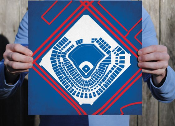 Rangers® Ballpark | City Prints Map Art