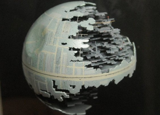 Mini Death Star Created From a Ping Pong Ball