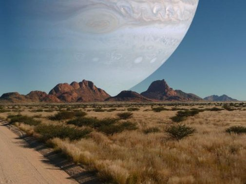 Twitter / sbadsgood: If Jupiter was the same distance from the earth as the moon is