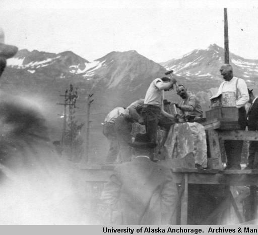 4th of July Rock-Drilling Contest, Valdez, Alaska, 1915