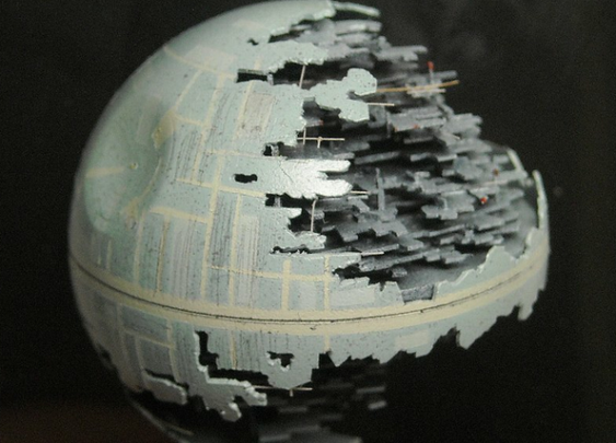 Death Star Made From Ping Pong Ball
