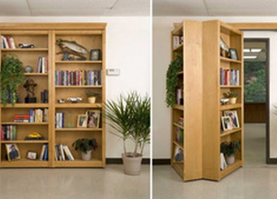Four Words: Secret. Folding. Bookshelf. Door. 'Nuff Said.