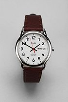 UrbanOutfitters.com > Timex Brown Leather Easy Reader Watch