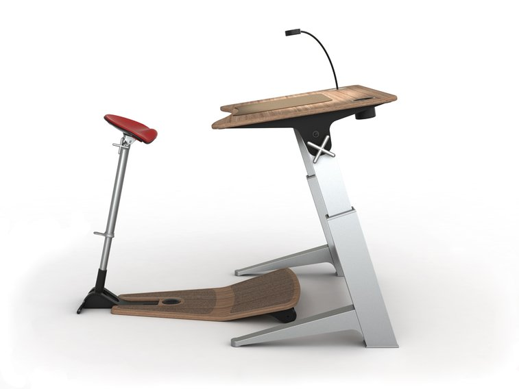 Focal Upright Furniture - Standing Desk and Chair