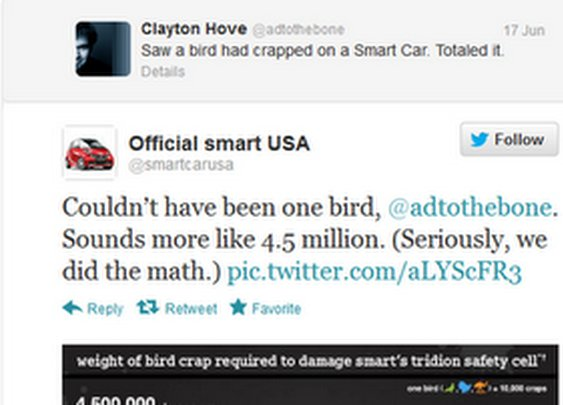 How Many Birds to Total a Smart Car?