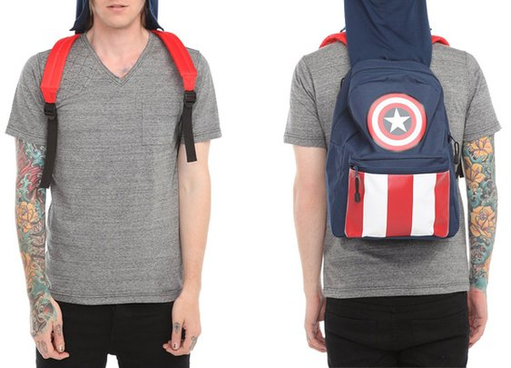Captain America Hooded Backpack