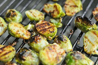 Grilled Crispy Mustard Brussels Sprouts Recipe :: The Meatwave