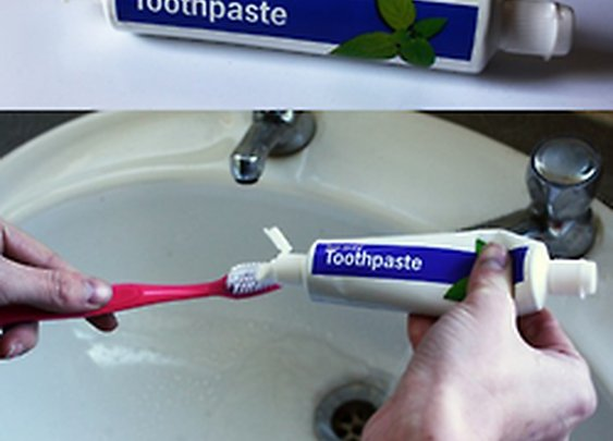 Two way toothpaste by Dominic Wilcox