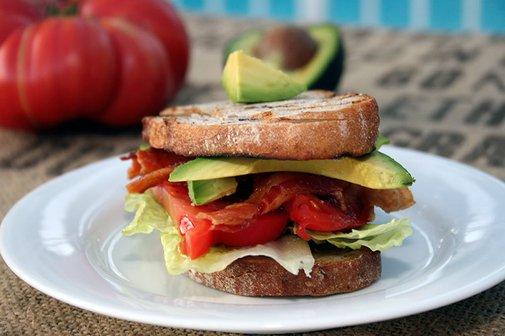 BLAT (Bacon-Lettuce-Avocado-Tomato) Sandwich