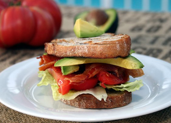 BLAT (Bacon-Lettuce-Avocado-Tomato) Sandwich