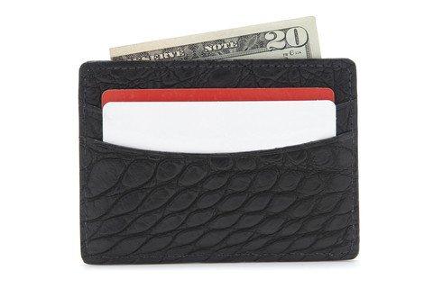 Alligator Card Case - Black