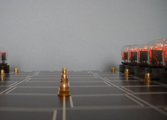 Awesome Nixie chess set now available as a limited edition kit
