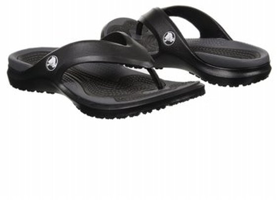Men's Crocs  Modi Flip Black/Graphite FamousFootwear.com