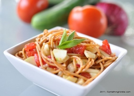 A Supreme Spaghetti Salad for Your Garden Veggies.